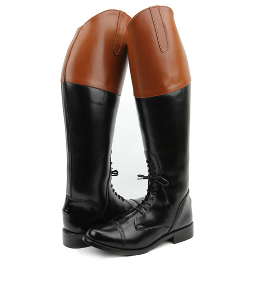 Men Man Pull On Fox Hunting Hunt Field Boots Without Back Zipper Tan Top